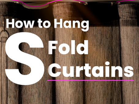 How To Hang S Fold Curtains   Real Blinds