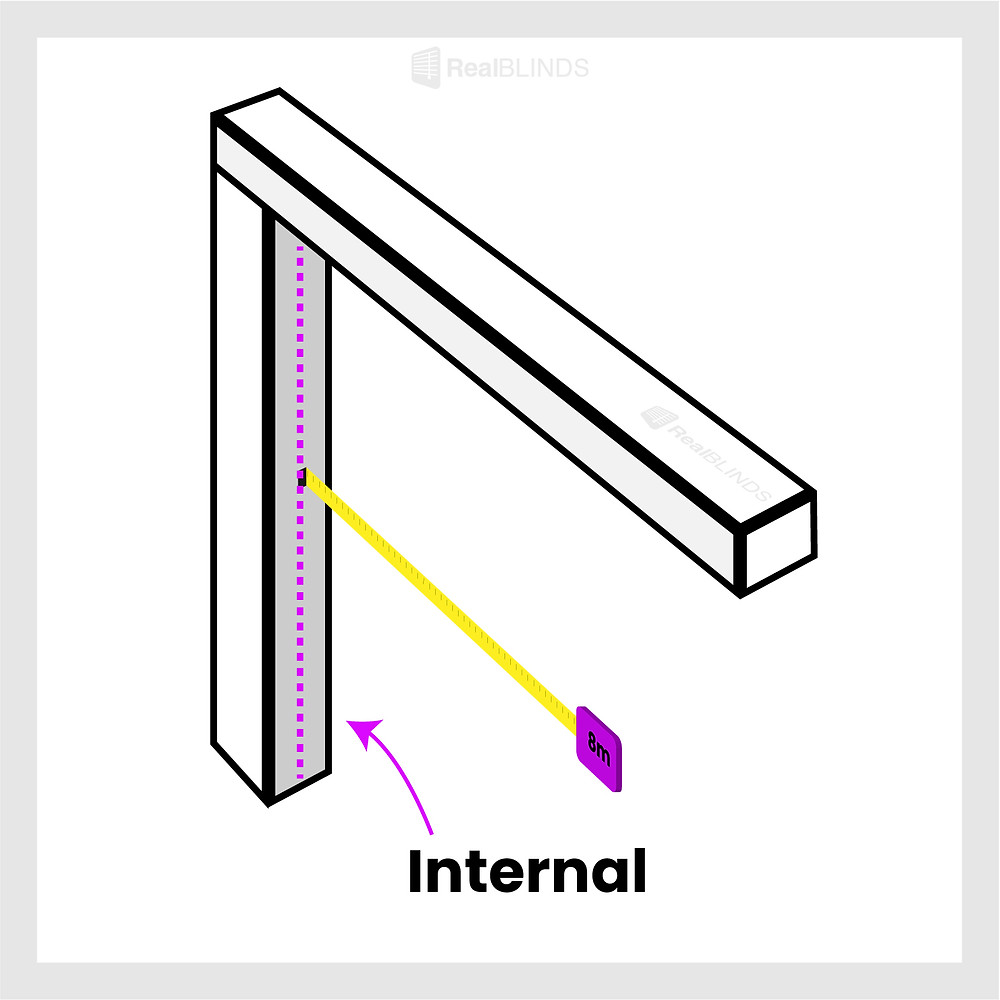 how to measure for blinds internal mount   Real Blinds
