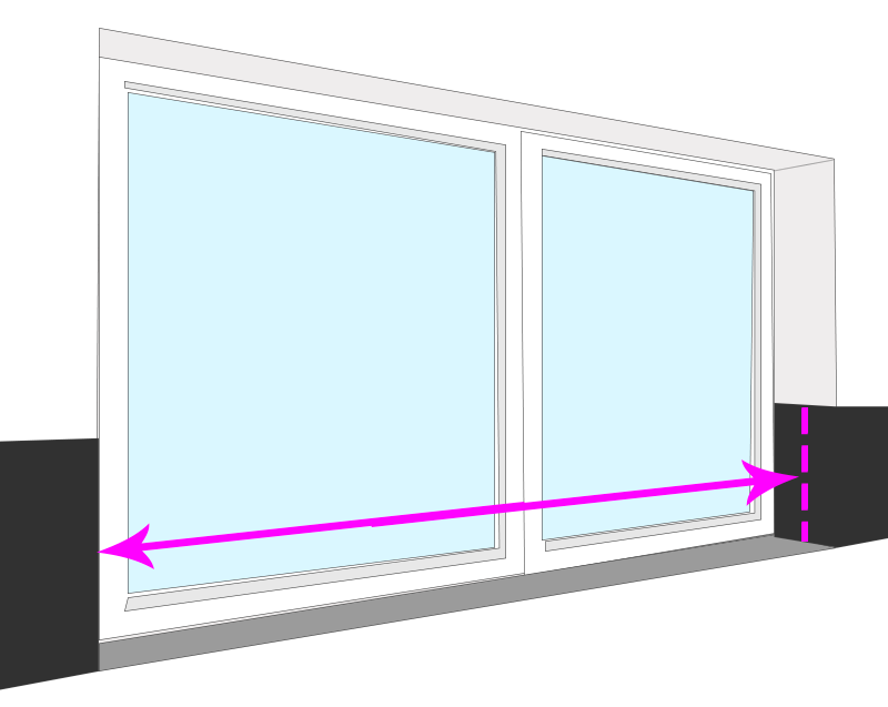 How to measure for blinds   Blinds Between Tiles   Internal Mount