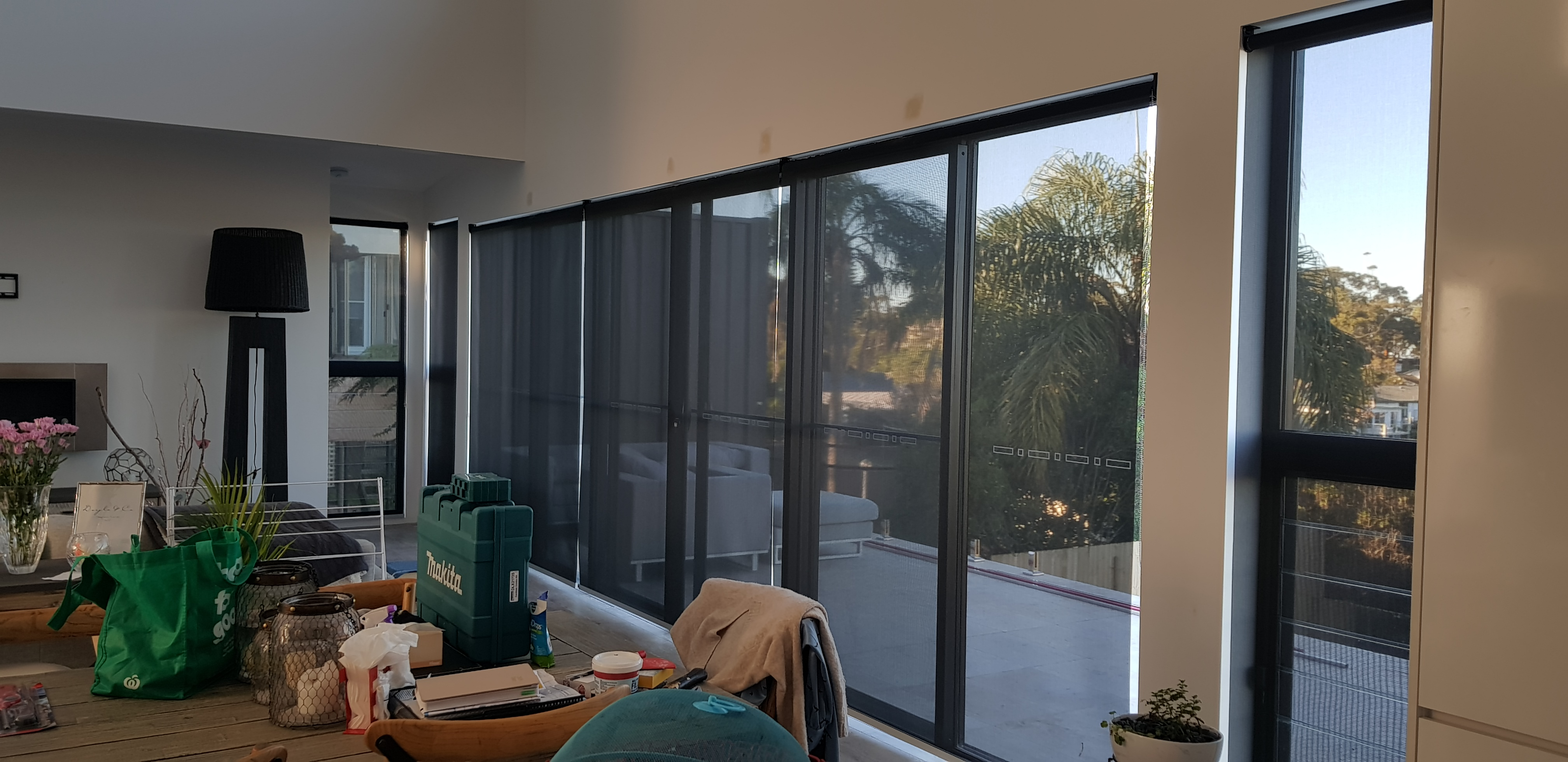 Black View Screen Roller Blinds