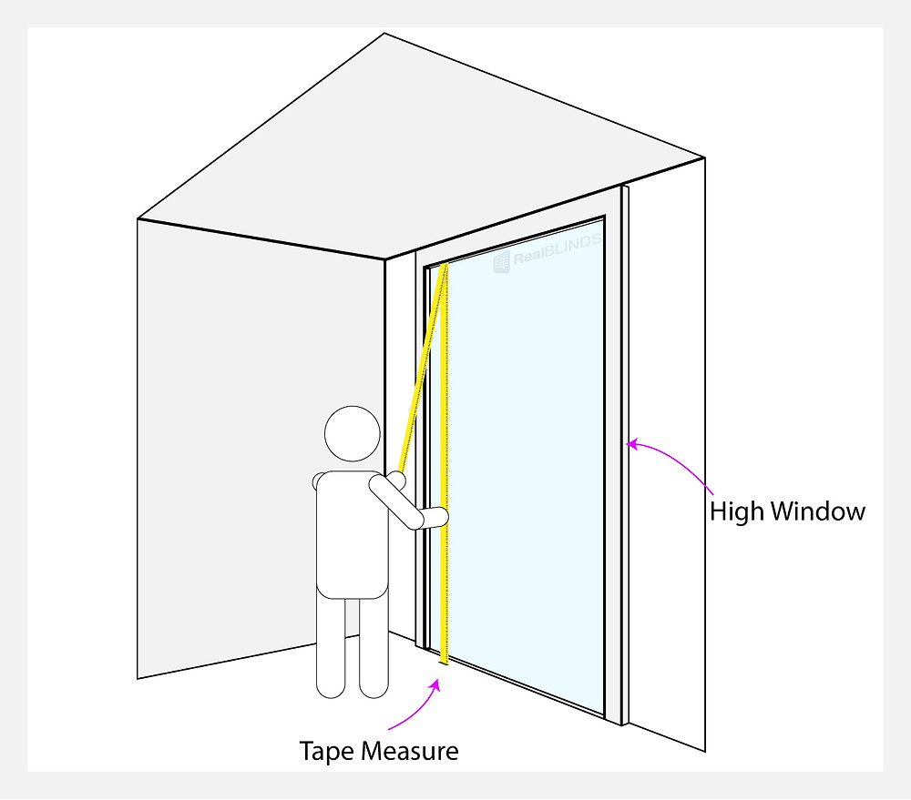 How To Measure High Up Blinds   Real Blinds