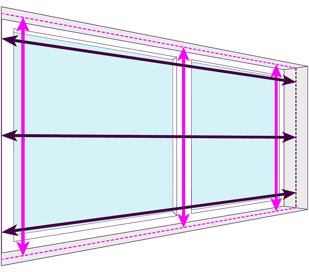 How to measure for blinds   Internal Mount/Inside Mount