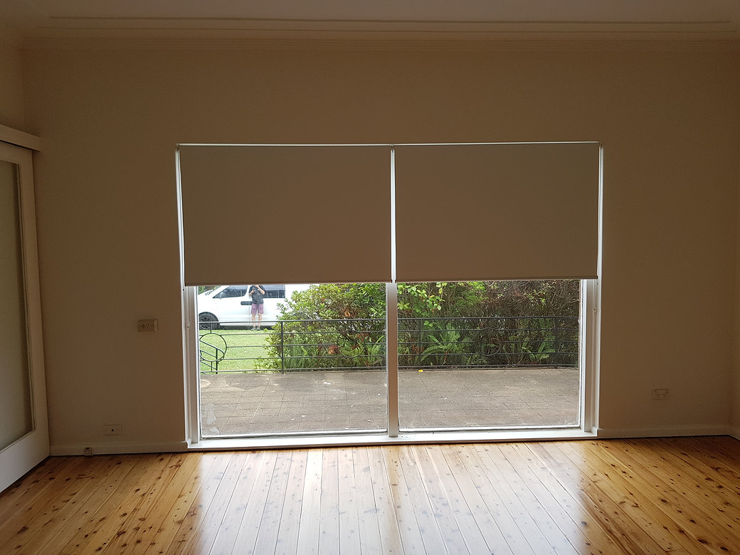 Real Blinds - 2 block out roller blinds