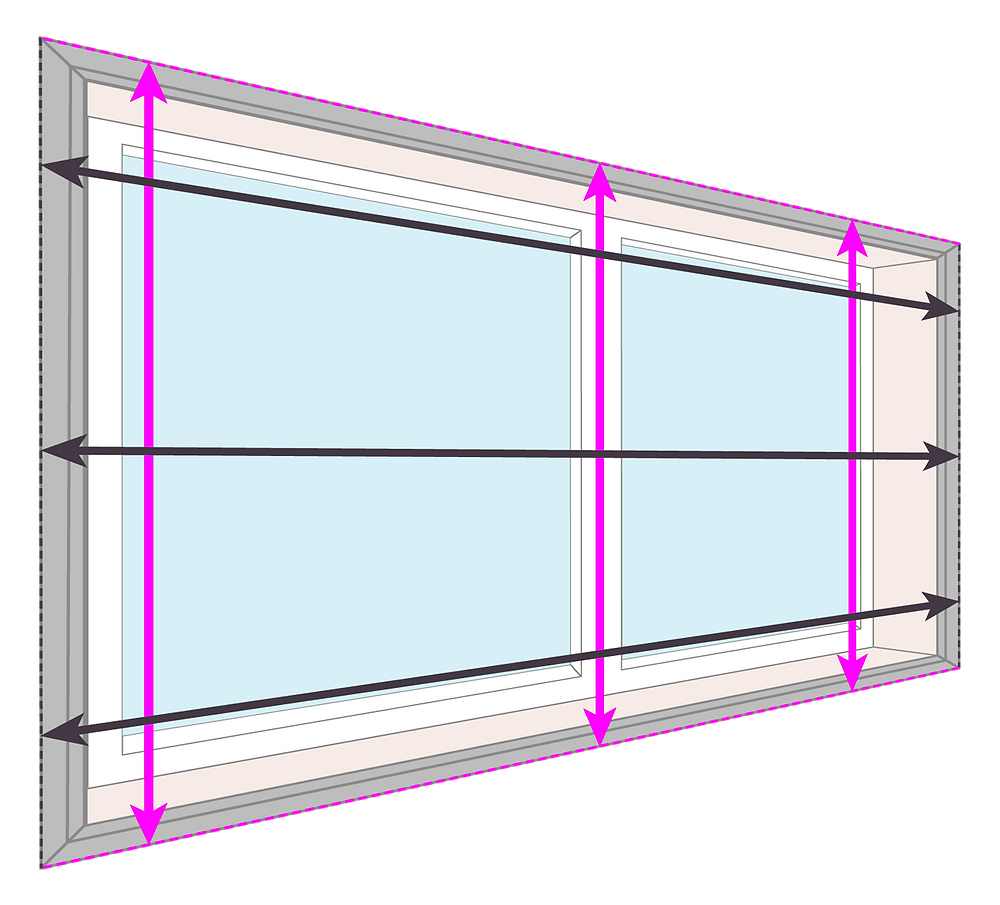 How to measure for blinds   installed onto an Architrave