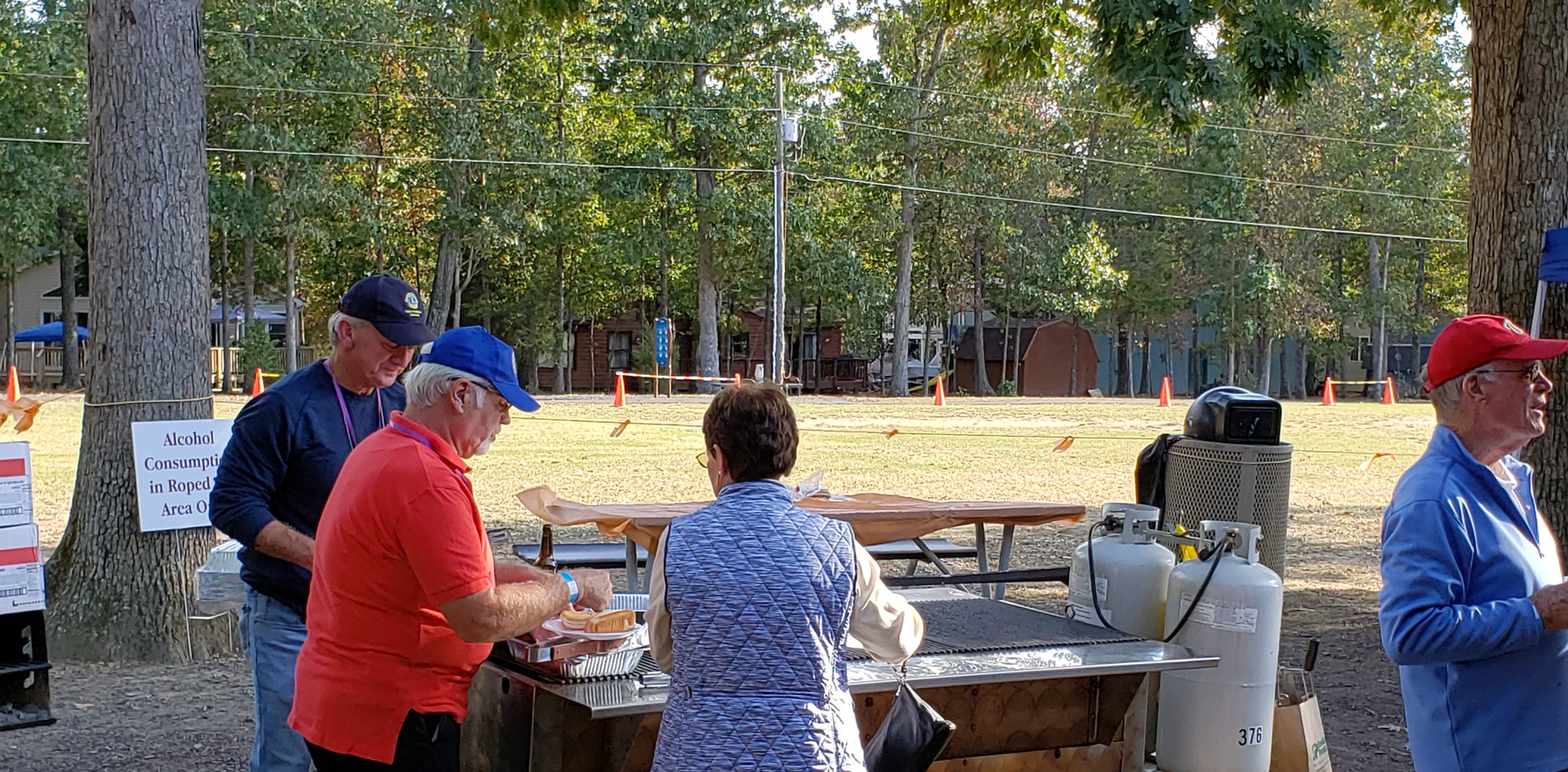 Cooking for the Hollyfield pavilion fundraiser