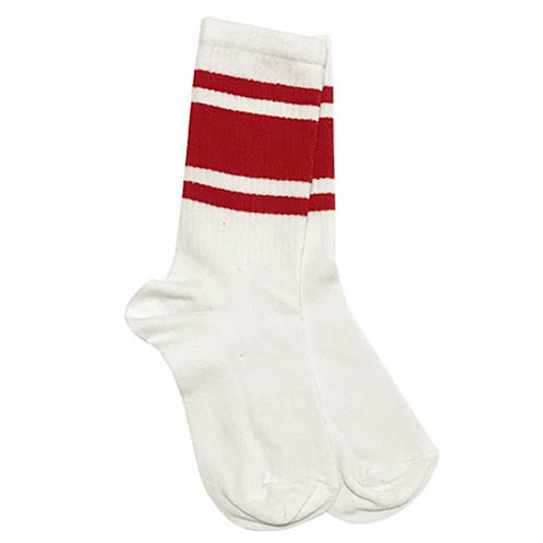 Squad White-Red Sock