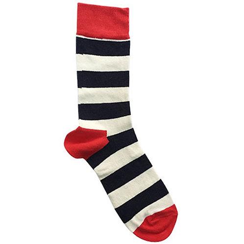 Stripe Navy Sock