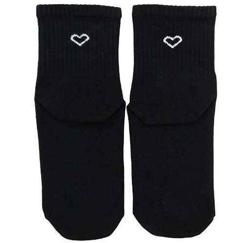Heart Black Sock