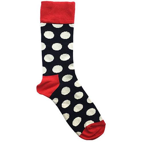 Big Dots Black Sock