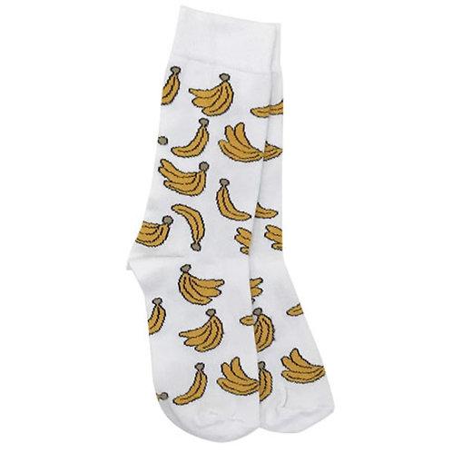 Banana-White Sock