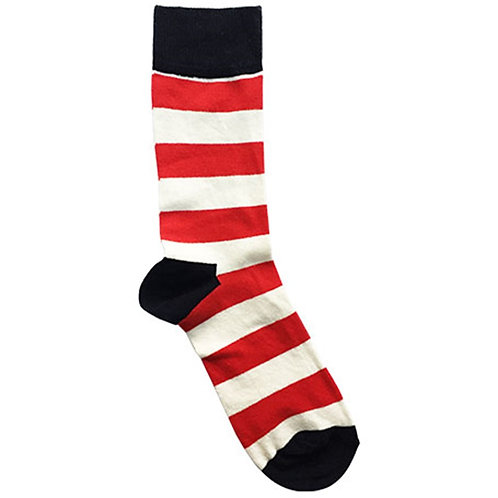 Stripe Red-White Sock