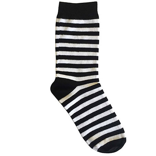 Stripe Black Sock