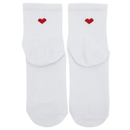 Heart White Sock