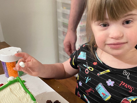 Lila made a pop tart house!