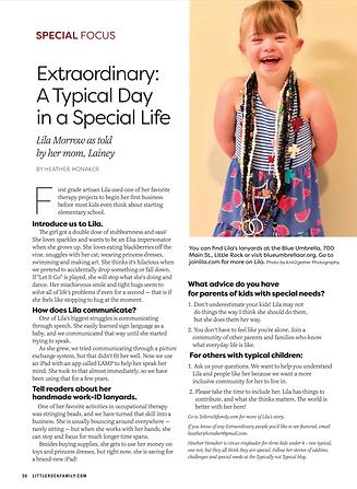 Lila in Little Rock Family Magazine