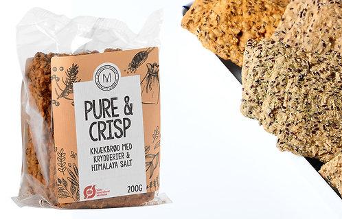 Øko knækbrød i hjemmelavet stil med Himalaya salt