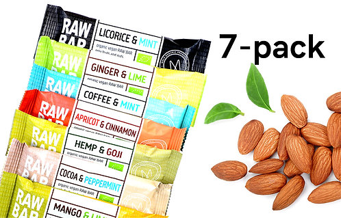 7-pack RAW BARS 315g