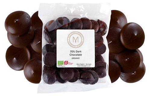 Mørk overtrækschokolade 80 g
