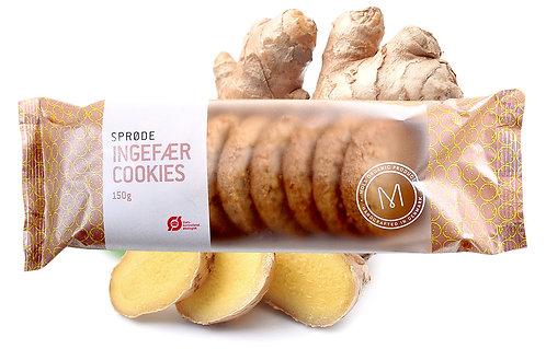 Lækre sprøde ingefær småkager fra Mols Organic. Økologisk