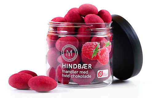 Mandler med Hindbær 100g