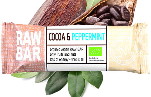 Cocoa & Peppermint RAW BAR 45 g