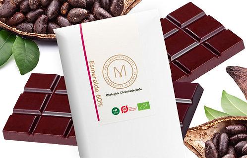 Chokoladeplade 50 g – Esmeralda 60%