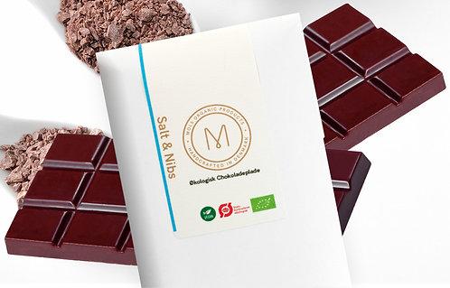 Chokoladeplade 50 g – Salt & Nibs