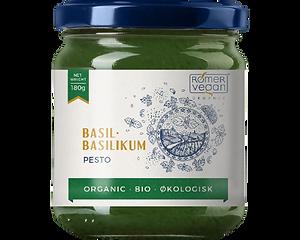 Dansk produceret økologisk pesto med basilikum.