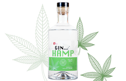 Gin med hamp - fremstillet af lokal hamp fra Møllerup Gods