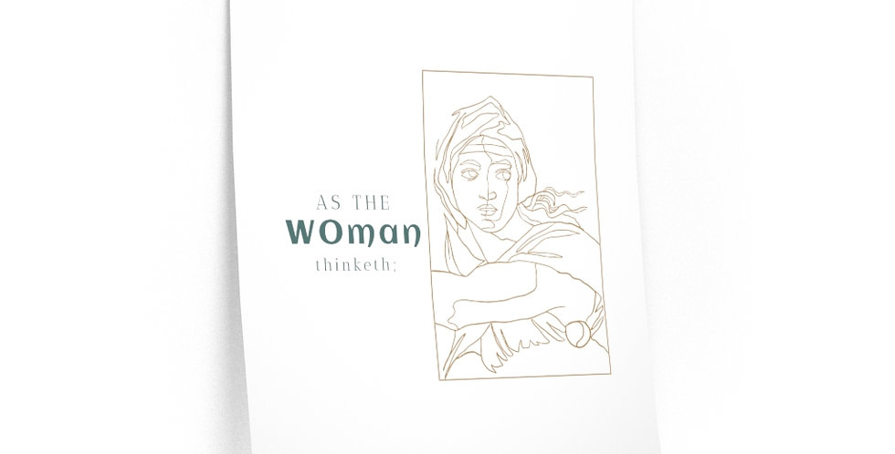 As the WOman thinketh Posters