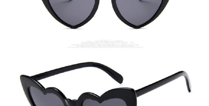 Love Ladies Sunglasses Cute Heart Trend  Eye wear Accessories