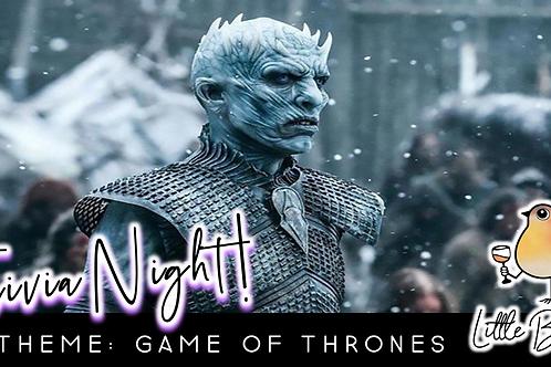 Trivia Night: Game Of Thrones Theme! (12/28 @ 6:30pm)