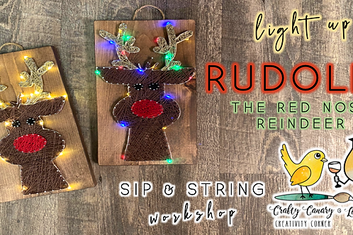 Light Up Rudolph Sip & String Workshop (12/21 @ 6pm)