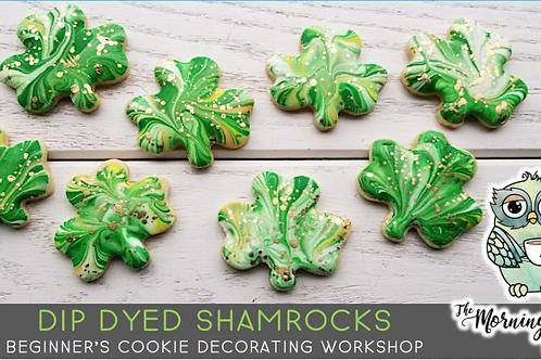 Dip Dyed Shamrock Cookie Decorating Workshop (3/13 @ 1pm)
