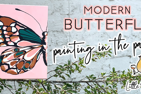 Modern Butterfly Painting in the Park (8/1 @ 11am)