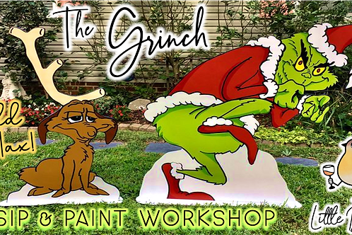 """The Grinch"" Light Up Yard Art | Sip & Paint Workshop (11/19 @ 6pm)"
