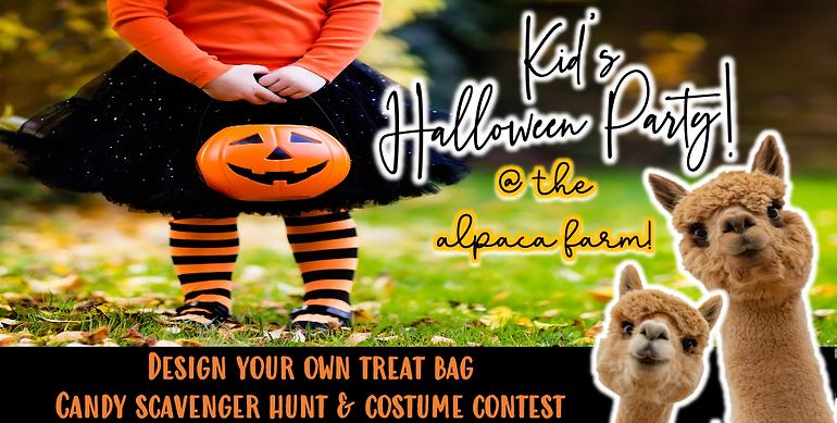 Kid's Halloween Party @ The Alpaca Farm (10/31 @ 11am)
