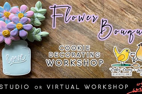 Flower Bouquet Cookie Decorating Workshop (6/19 @ 10am)