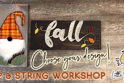 Fall Gnome Sip & String Workshop (10/25 @ 6pm)