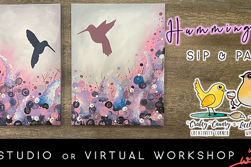 Mom & Me Hummingbird Sip & Paint Workshop (5/7 @ 6pm)