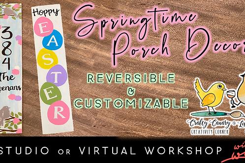Reversible Springtime Porch Decor (3/19 @ 6pm)