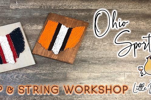 Ohio Sports Sip & String Workshop (10/23 @ 4pm)