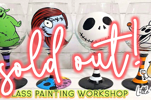 SOLD OUT:Nightmare Before Christmas Wine Glass Sip & Paint Workshop (9/11 @ 4pm)