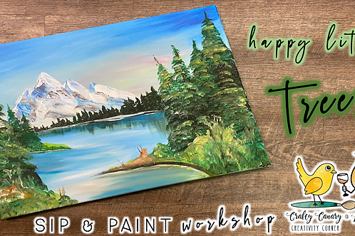 Happy Little Trees Sip & Paint Workshop (3/18 @ 6pm)
