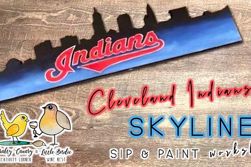 Cleveland Indians Skyline Sip & Paint (3/21 @ 1pm)