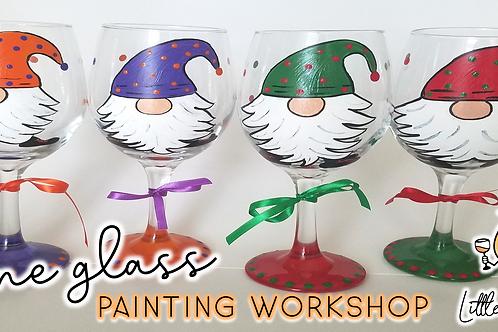 Polka Dot Gnome Wine Glass Sip & Paint Workshop (11/13 @ 4pm)