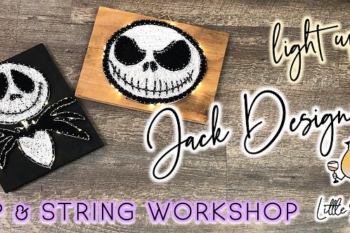 Light Up Jack Designs Sip & String Workshop (9/27 @ 6pm)