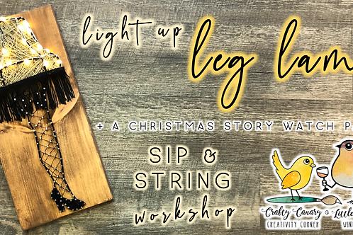 Light Up Leg Lamp Sip & String Workshop (12/7 @ 6pm)