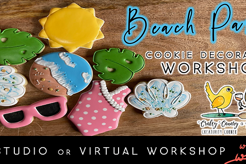 Beach Party Cookie Decorating Workshop (7/10 @ 10am)
