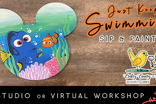 """""""Just Keep Swimming"""" Mickey Sip & Paint Workshop (5/15 @ 4pm)"""